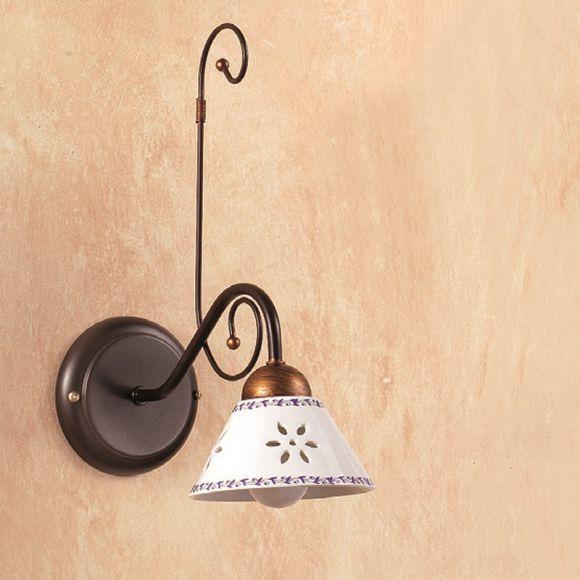 mediterrane wandleuchte keramikschirme metallkorpus. Black Bedroom Furniture Sets. Home Design Ideas