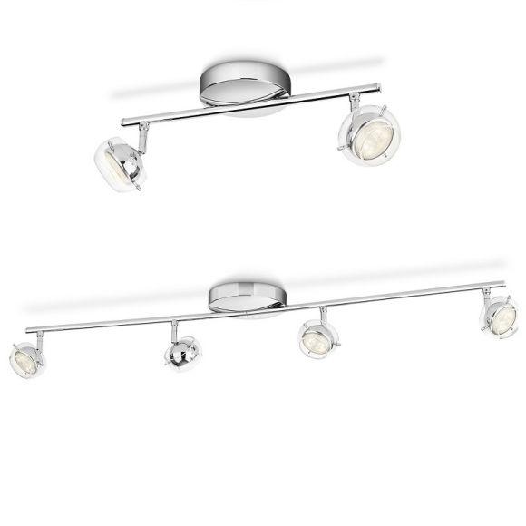 led strahlerserie chrom glas deckenstrahler inklusive led 4 watt 230 lumen 2 oder 4. Black Bedroom Furniture Sets. Home Design Ideas