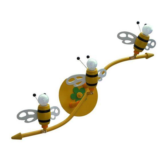 Bienchen umschwirren das Licht! Schöne Kinderdeckenlampe mit 3D-Bienchen