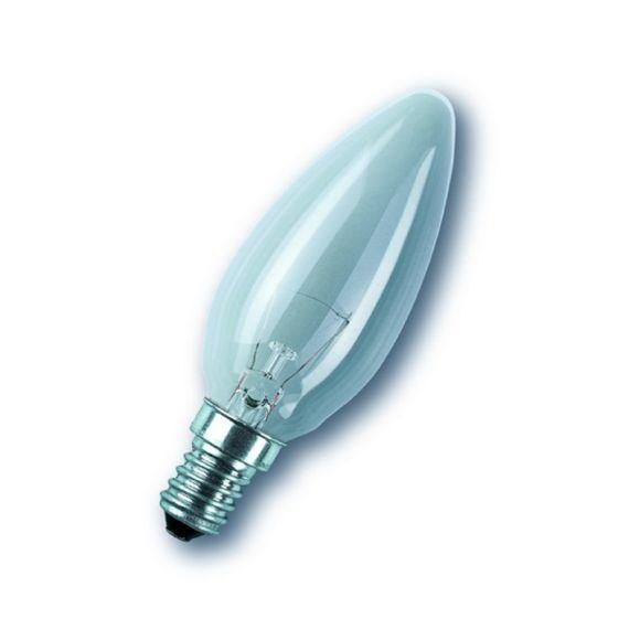 C35 Kerze klar  E14, 15 oder 40 Watt