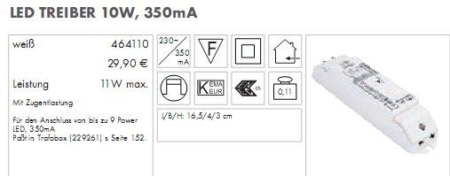 LED Treiber 230V /350mA  10W