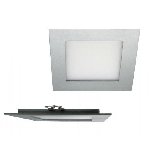 high tech led lichtpanel in silber mit warmwei em oder