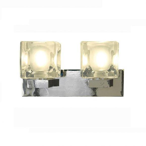 Wandleuchte Blox II , dekorativ dank Eiswürfel-Optik