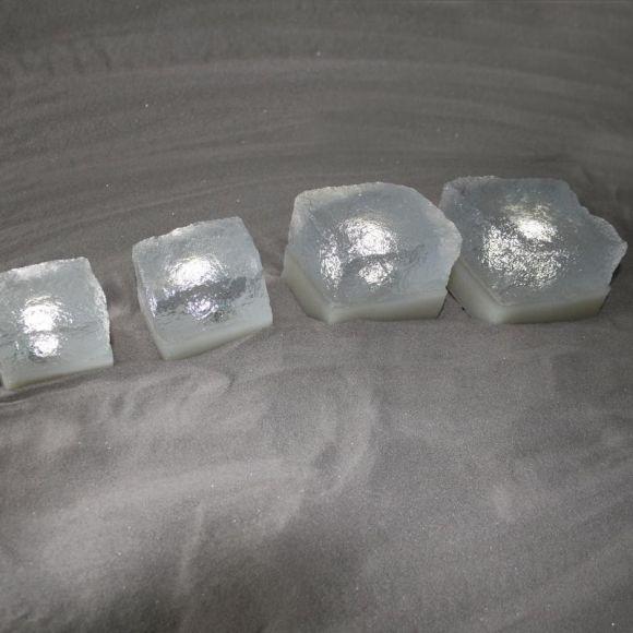 Leuchtender Pflasterstein - LIGHT STONE CRISTAL in 50x60x50mm - LED in 6 Farbvarianten - 2 Leuchtmittelstärken