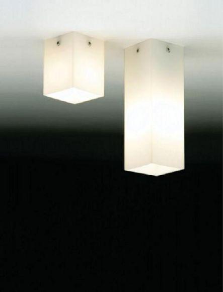 Halogen Decken Aufbauleuchte - Opalglas - 4 Ausführungen wählbar