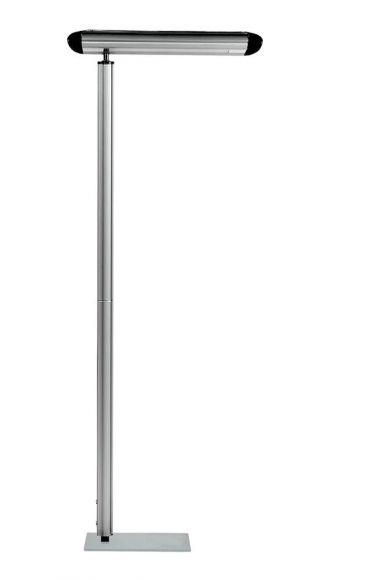 Energiespar-Stehleuchte- Inklusive Leuchtmittel - Aluminium - 2 x 55 Watt oder 2 x 80 Watt mit Dimmer