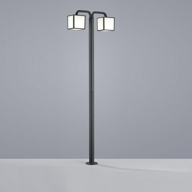Trio LED-Mastleuchte Cubango - Aluminium Anthra...