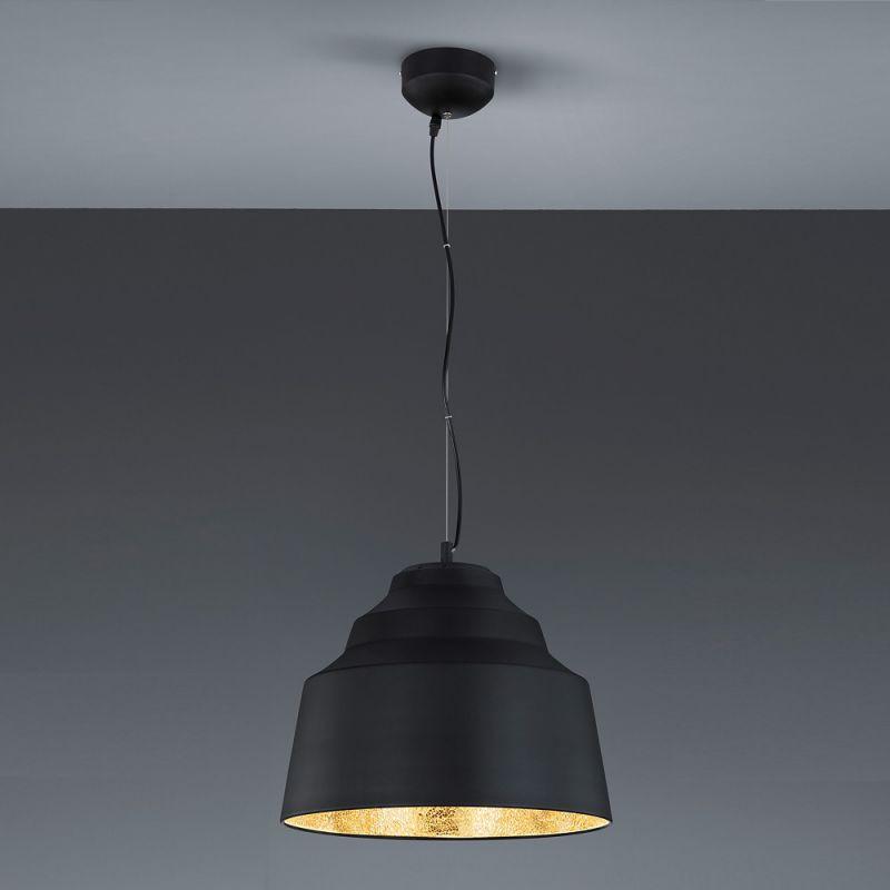 Trio Dimmbare LED-Pendelleuchte Naples in Schwa...