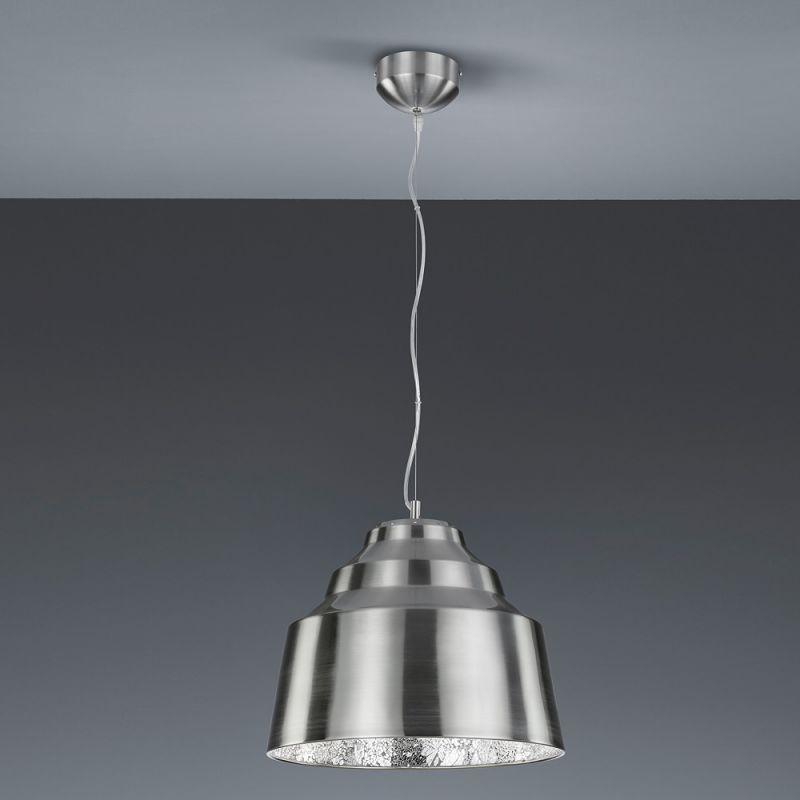 Trio Dimmbare LED-Pendelleuchte Naples in Nicke...