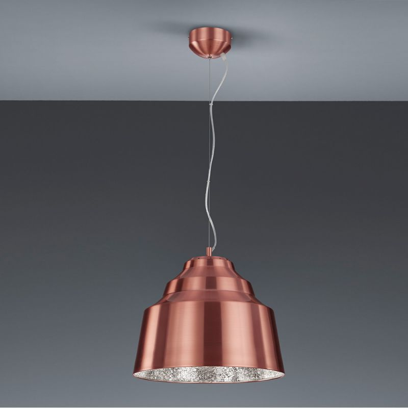 Trio Dimmbare LED-Pendelleuchte Naples in Kupfe...