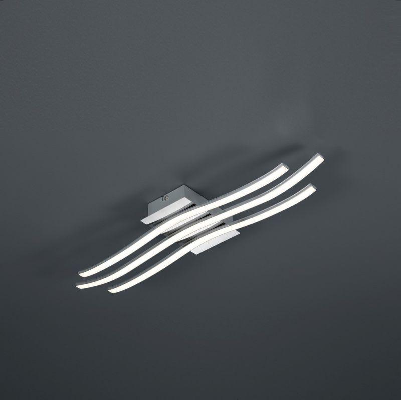 Trio LED-Deckenleuchte Chrom / Acryl weiß, inklusive LED 24W Catoki 676412406