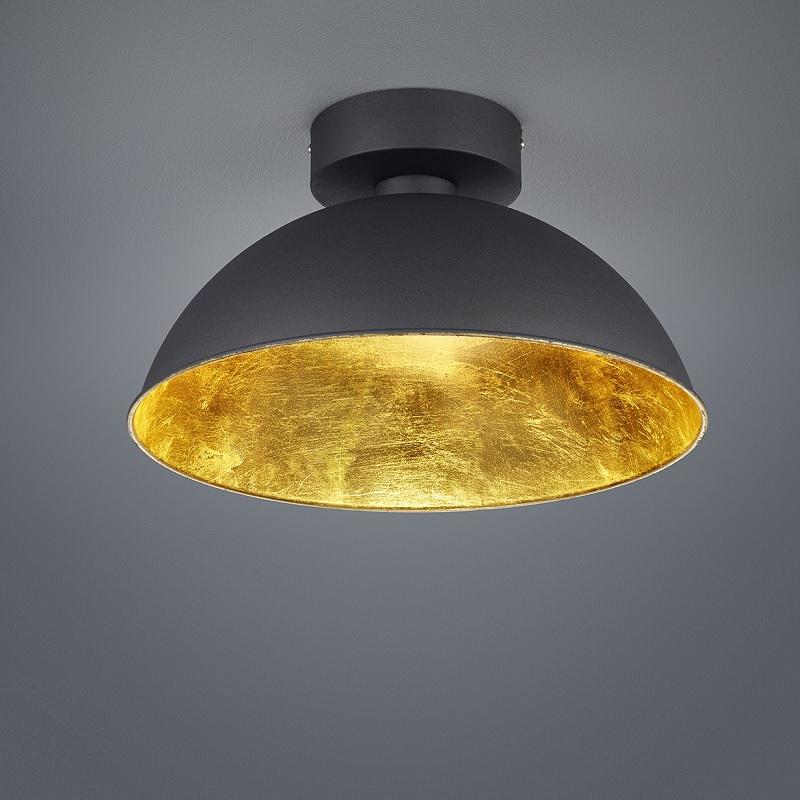 Trio Dimmbare LED-Deckenleuchte 40 cm, Schwarz ...