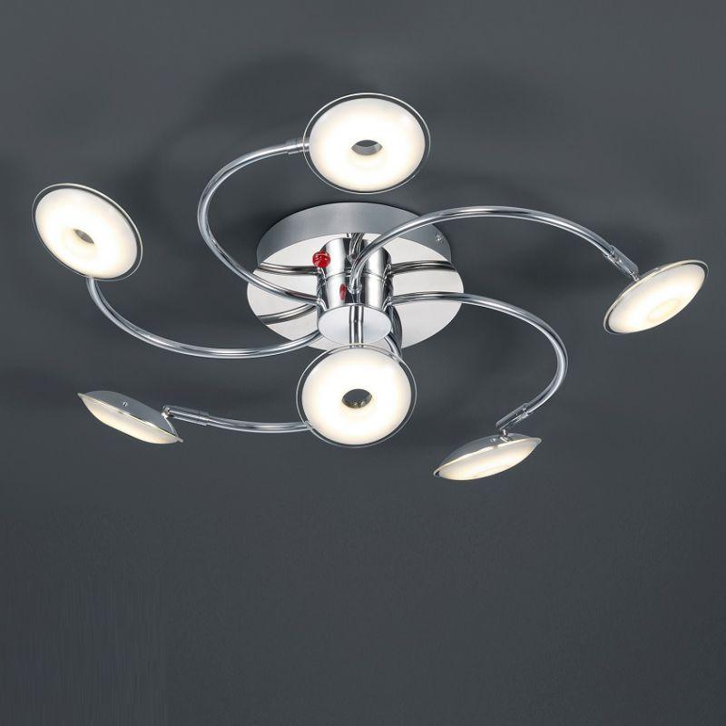 Trio LED-Deckenleuchte Pilatus mit Fernbedienung, 6-flg Pilatus 6x 3,8 Watt, 65,00 cm 675990606