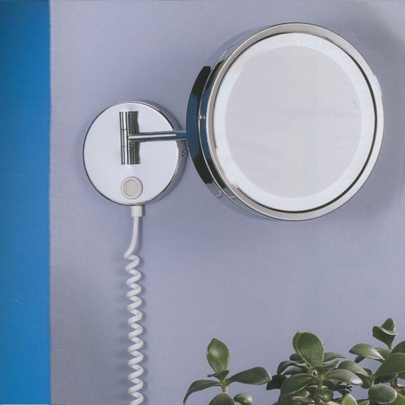Trio LED- Kosmetikspiegel in chrom mit 3- fach ...
