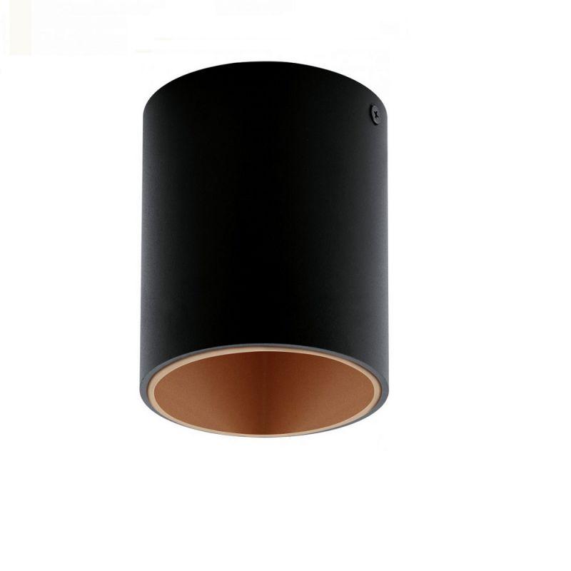 EGLO Runde LED-Deckenleuchte in Schwarz, inklus...
