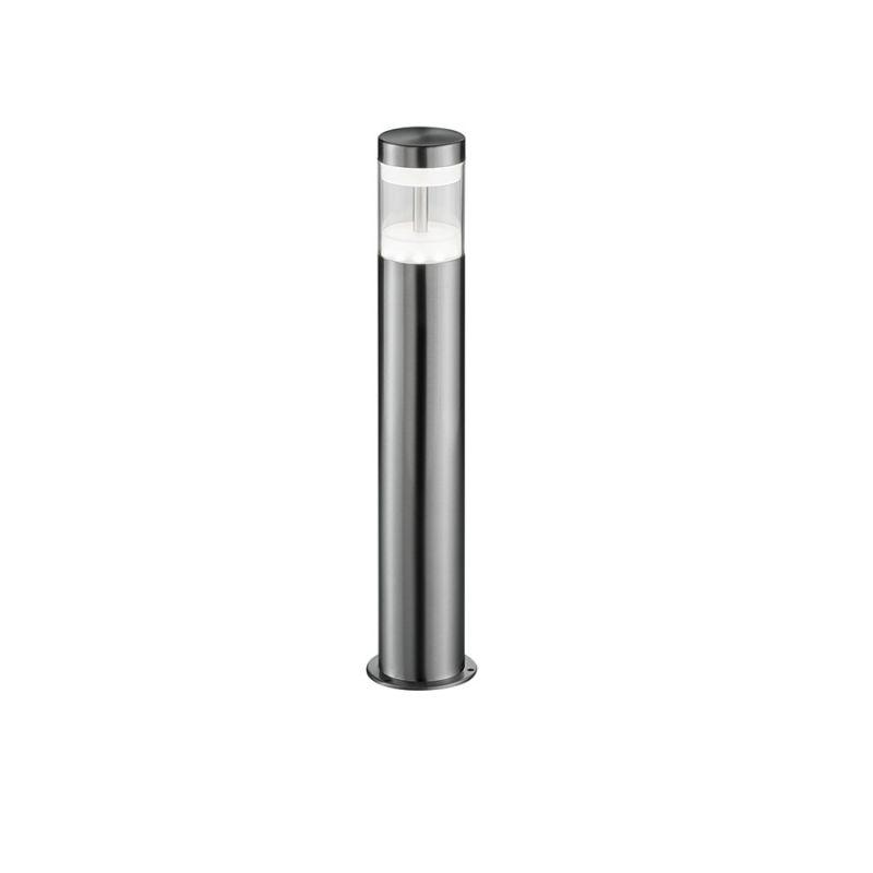 Reality Moderne LED Außen Sockelleuchte - Edelstahl - Kunststoff klar - Höhe 48 cm -  Inklusive LED 7 Watt  450 Lumen  3000 Kelvin R58701131
