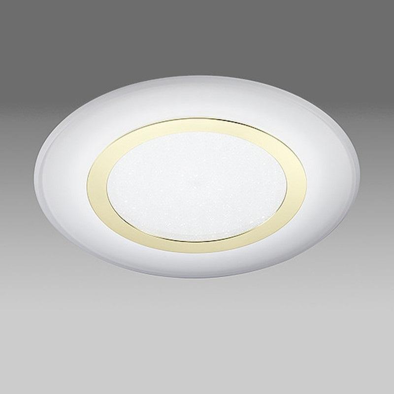 B+M LED-Deckenleuchte Aura 40 cm Messing polier...