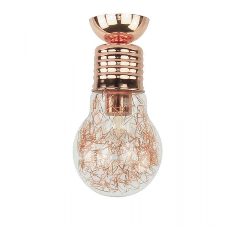 Spot-Light Deckenleuchte Bulb Kupfer Glühbirne ...