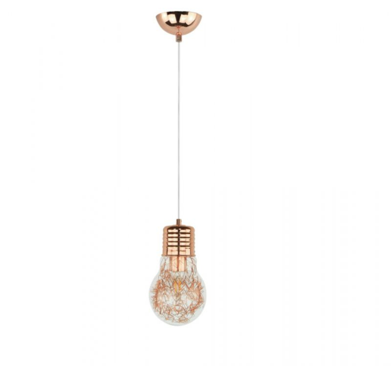 Spot-Light Bulb Glühbirne mit Drahtfäden in Kupfer, Pendelleuchte 2810113