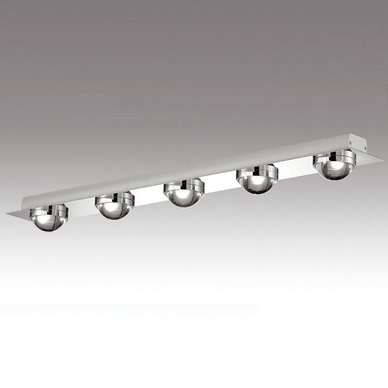 Rogu LED-Deckenleuchte in chrom 5x 6W LED - dim...