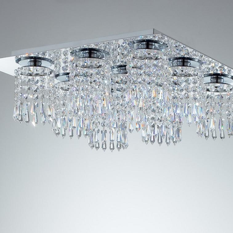 Rogu Kristall-LED-Deckenleuchte in gold gold 001-1335/91-020