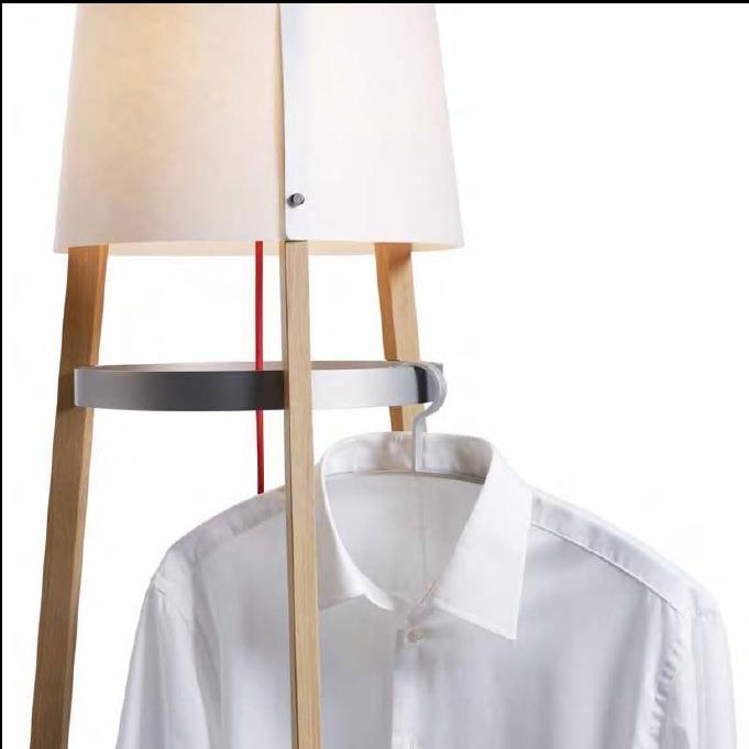 DOMUS Design-Stehleuchte, Eiche schwarz lackier...