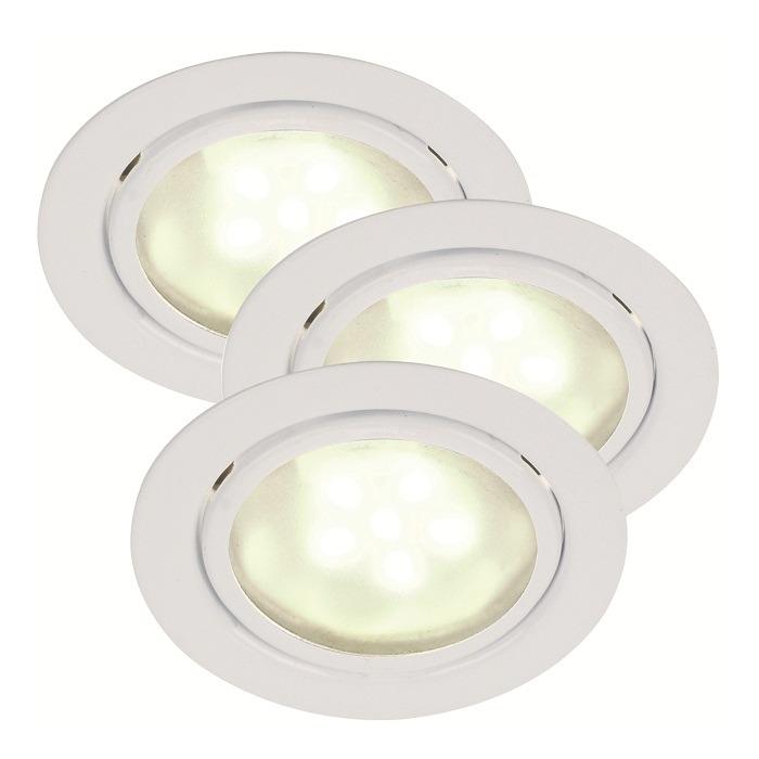 Nordlux LED-Unterbauleuchten 3er Set in Weiß - ...