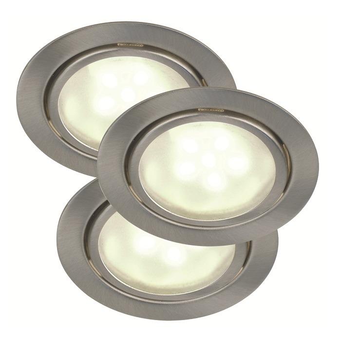 Nordlux LED-Unterbauleuchten 3er Set stahlfarbi...