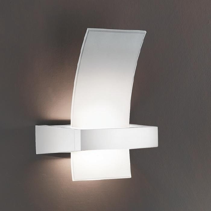Linea Light Wandleuchte aus Glas mit indirektem...