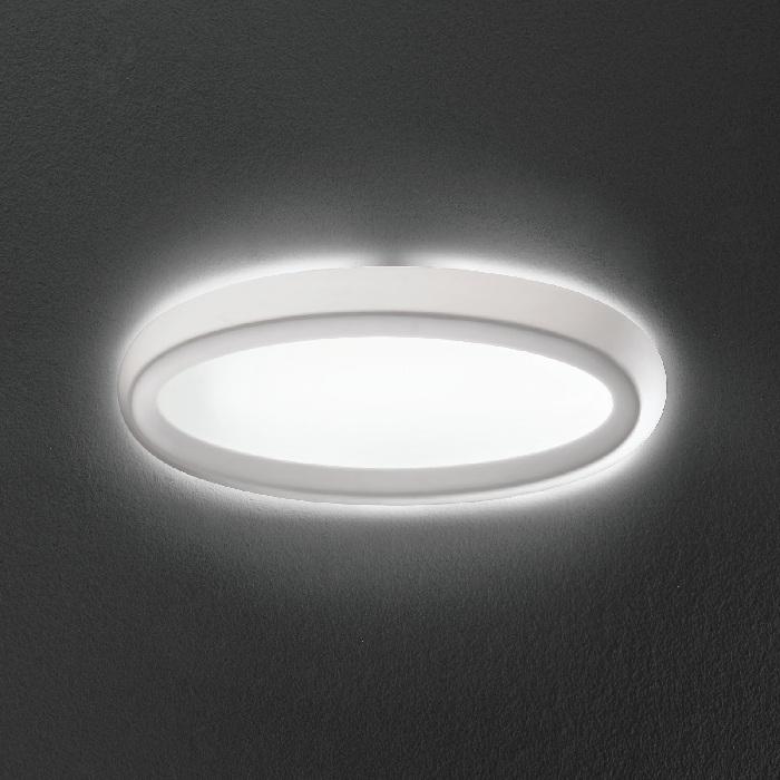 Linea Light Schlichte Wandleuchte aus Gips ganz...