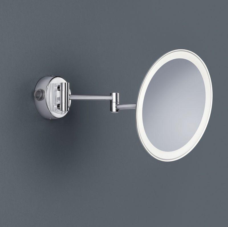 Trio LED-Kosmetikspiegel Chrom, 3-fach Vergröße...