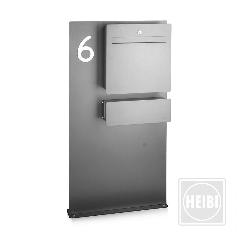 briefkasten anthrazit freistehend einzelbriefkasten syma. Black Bedroom Furniture Sets. Home Design Ideas