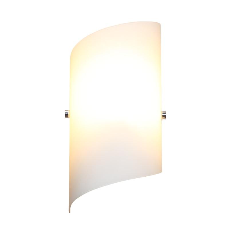 LHG LED Wandleuchte nickel matt Glas weiß matt ...