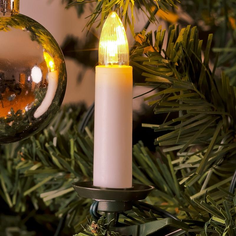 Konstsmide LED-Baumkette für den Innenbereich - Topbirnen - One String-Kabel - 25 warm weisse Dioden - mit Schalter 1004-010