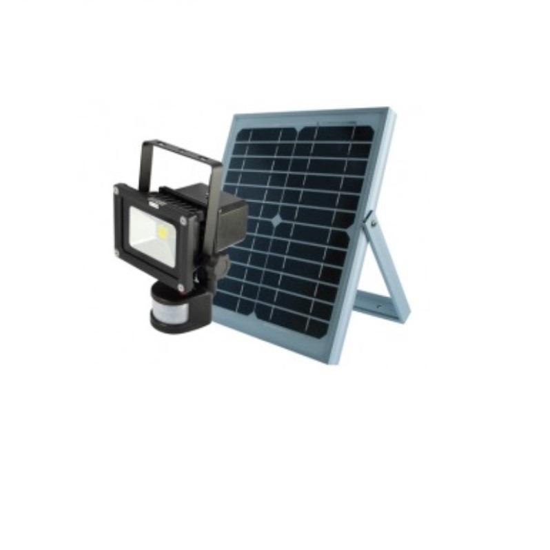 LEDINO SENSOR und SOLAR LED-Akkustrahler  10 Watt LED-FLA1005IR-Set