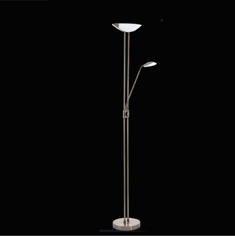 EGLO LED-Fluter mit Lesearm, dimmbar, Stahl brü...