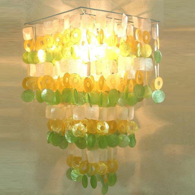 ARTLAMP Dekorative Deckenlampe mit Muschelblätt...